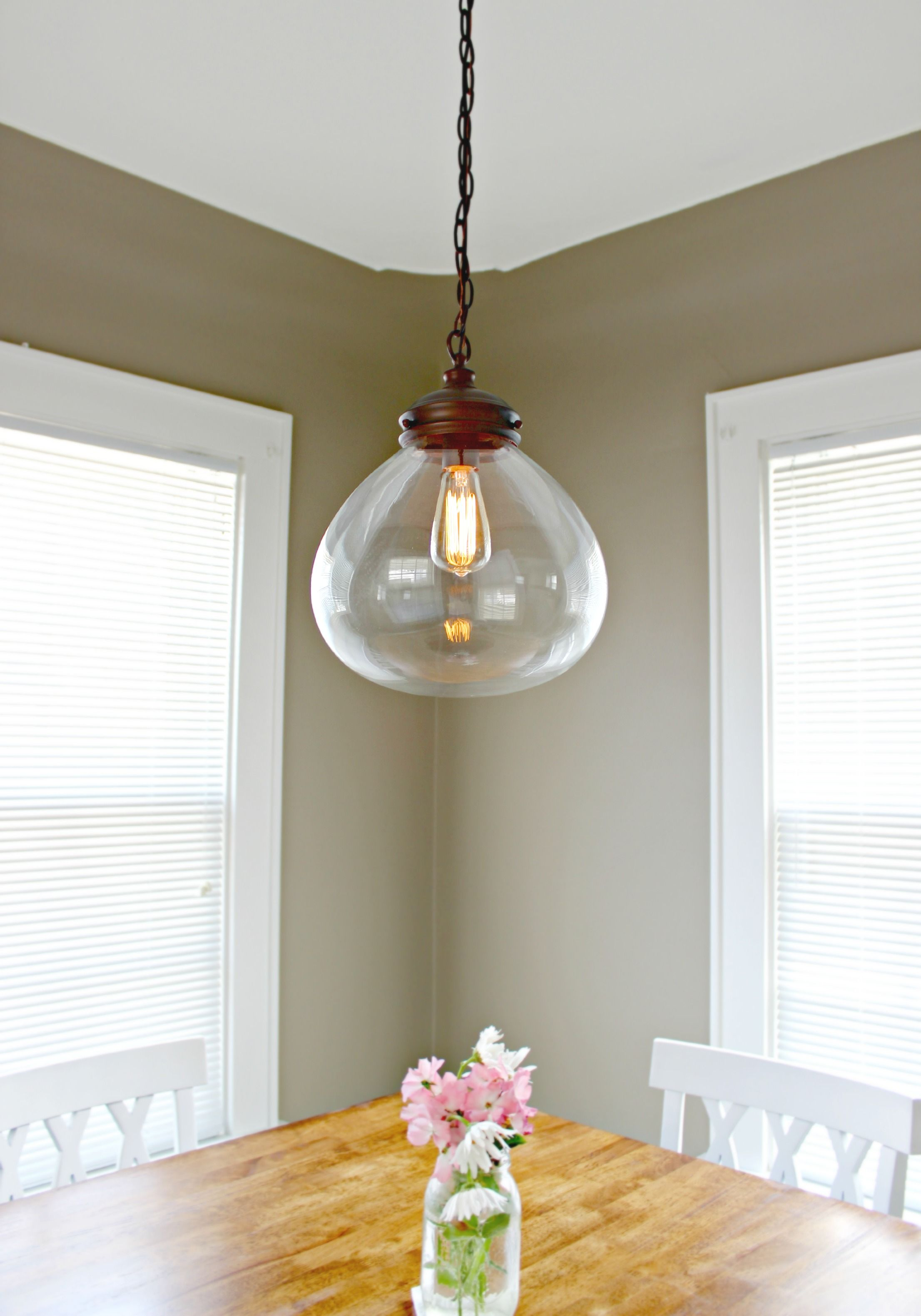 Allen Roth 12 In Bristow Edison Style Pendant Light With Clear Shade
