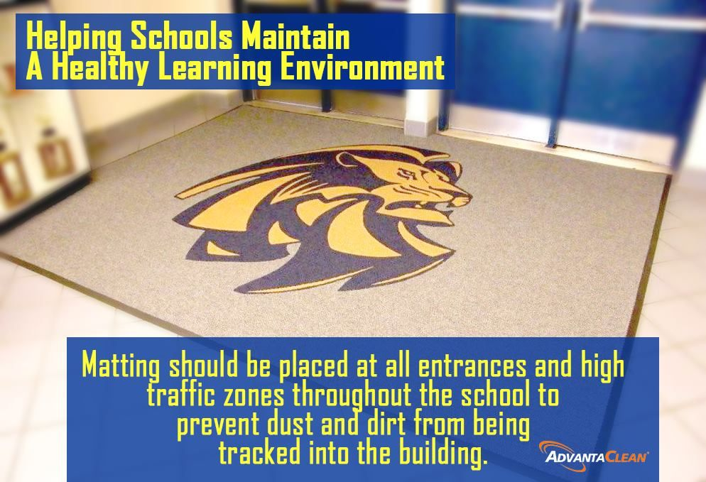 Healthy Learning Environment Tip Matting should be placed
