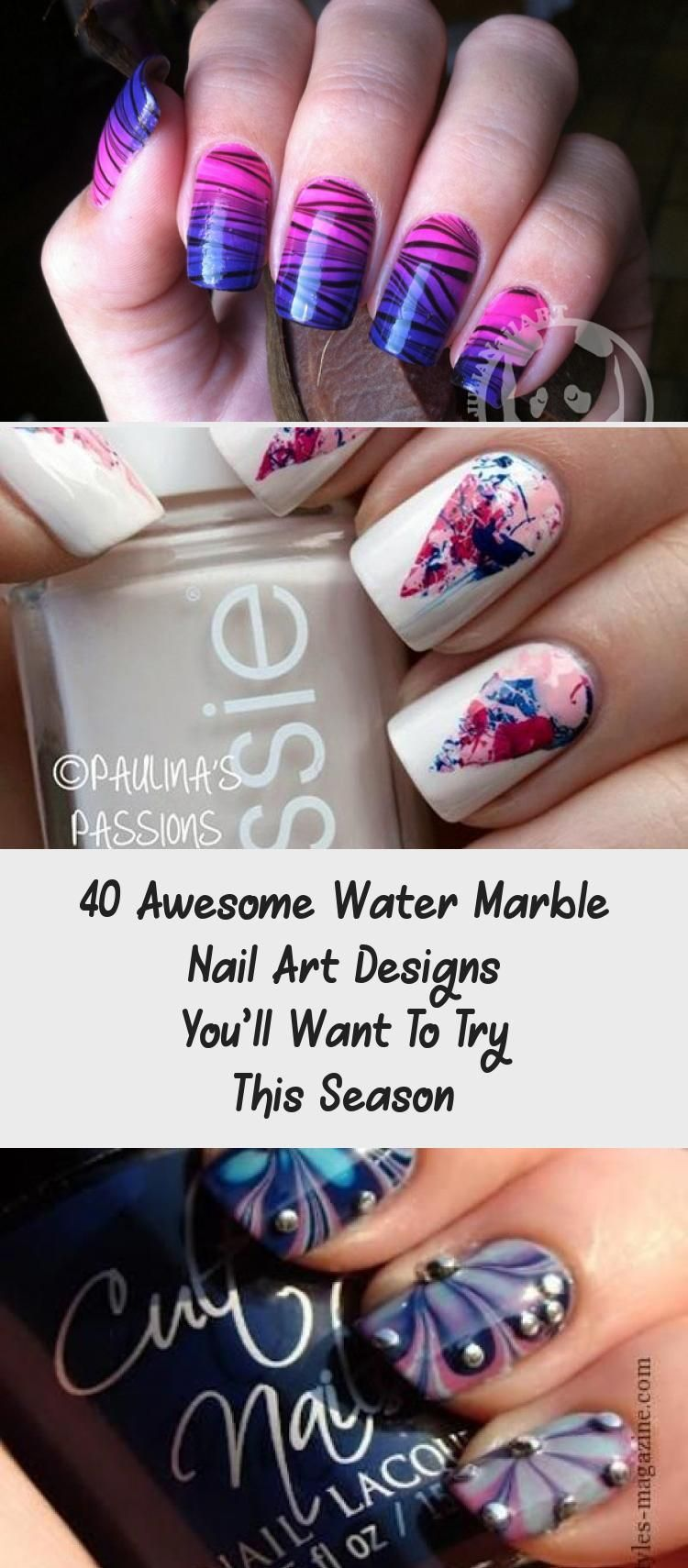 40 Awesome Water Marble Nail Art Designs You Ll Want To Try This Season Beauty In 2020 Water Marble Nail Art Water Marble Nails Nail Art Designs