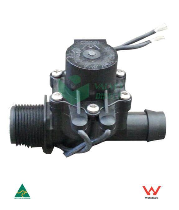 Irrigation Solenoid Valve 24vac 3 4 Male Inlet 19mm Barb Outlet 50 Lpm High Flow 13 00 Inc Gst Irrigation Controller Irrigation Valve
