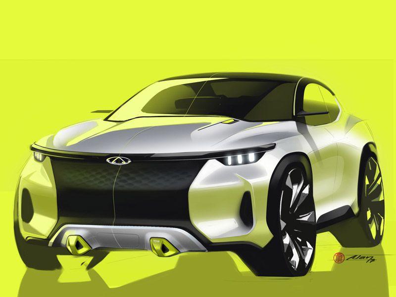 Spark ya brayn photo exterior design sketches pinterest - Croquis voiture ...