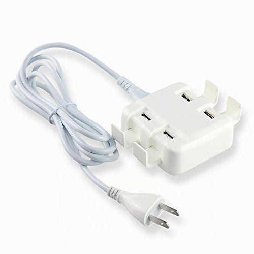 Asnlove universal accesorios para moviles de cargador de pared blanco para cuatro USB 110-240V 4000mAh con soporte cargador viaje dispositivos para samsung galaxy s4 s5 iphone 5 6 sony xperia z z2 z3 MP3 MP4 Asnlove http://www.amazon.es/dp/B01A6KX3D4/ref=cm_sw_r_pi_dp_y.6Iwb1306QHC