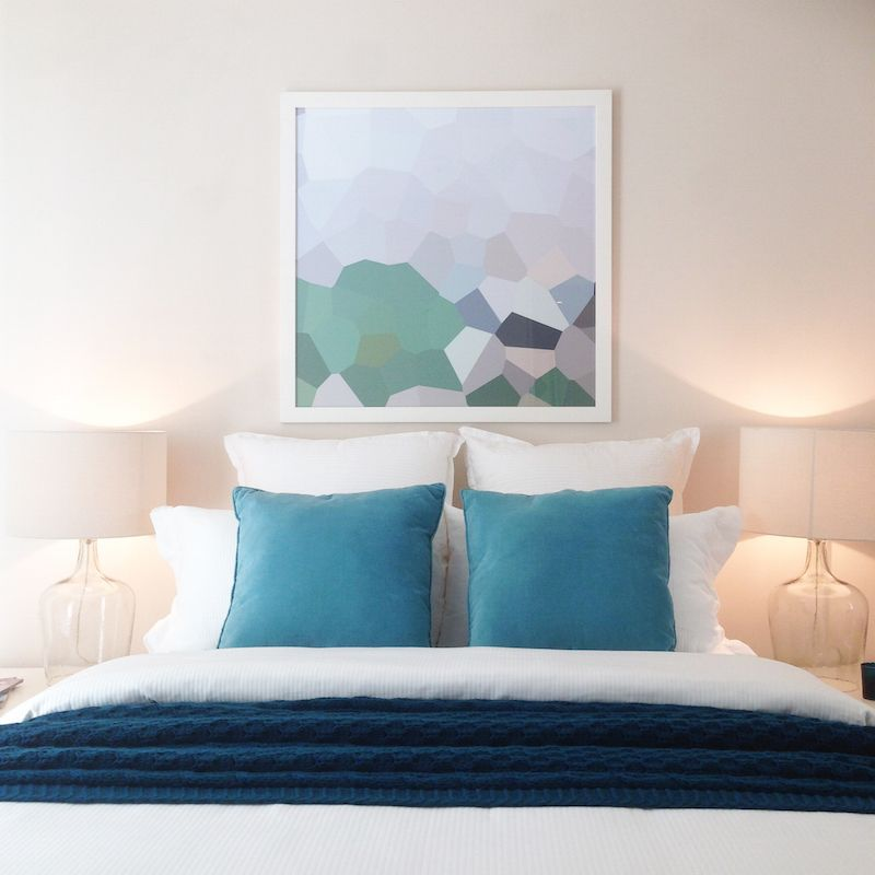 Bedroom Styling L Geometric Artwork Above Bed L How To Style A Small Room L  Expert