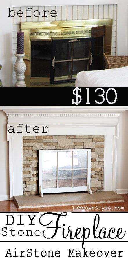 Fireplace Makeover On A Budget If You Want Stone It Can Be Yours With Product Called Airstone Diy