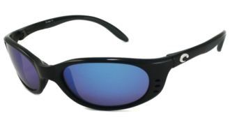 Costa Del Mar Sunglasses - Stringer- Glass / Frame: Shiny Black Lens: Polarized Blue Mirror Wave 580 Glass Costa Del Mar. $212.99