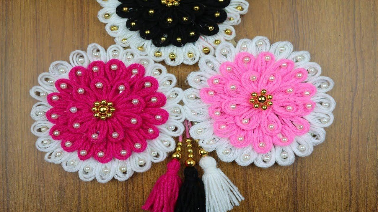 Waste Material Craft Ideas For Home Decor Woolen Craft Idea