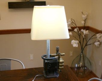 Industrial Style Lamp  Upcycled Lamp  Free Shipping