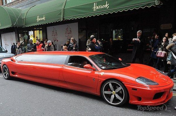 Ferrari Modena Limousine The Perfect Ride For Santa Picture