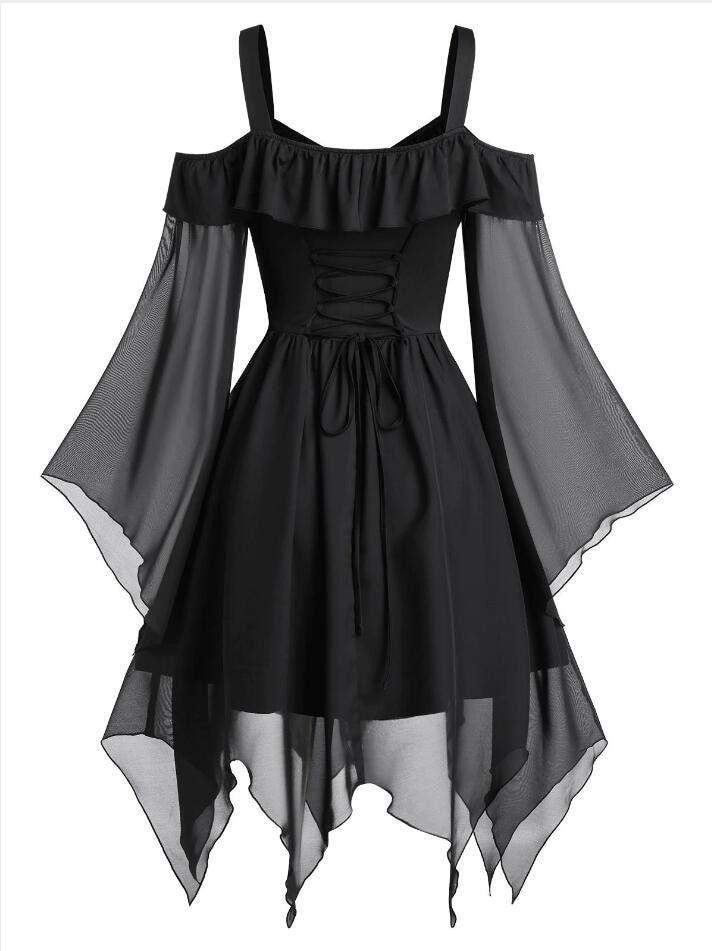 Black Gothic Dress – Free Shipping – Elbise