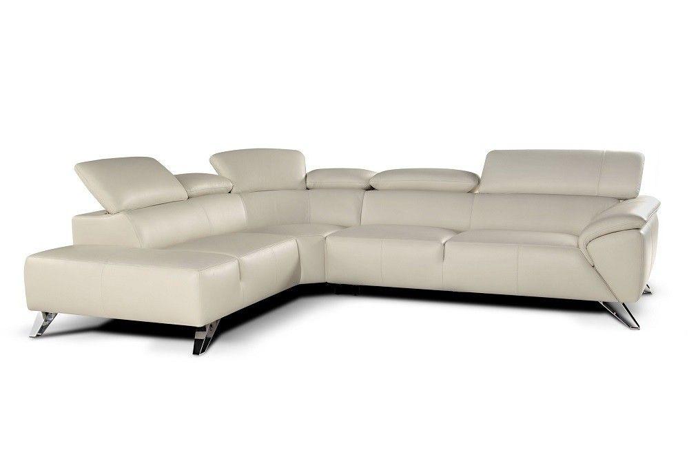 Tesla Hardwood Leather Sectional Sofas By Nicoletti Calia