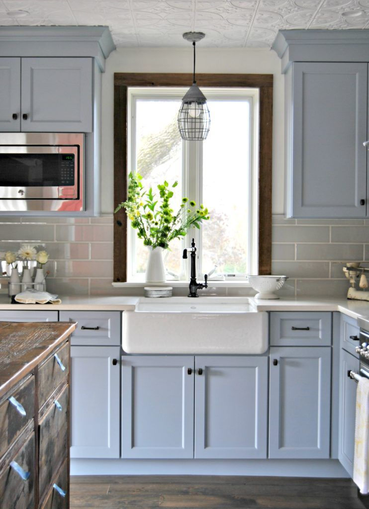 stone house revival farmhouse kitchen