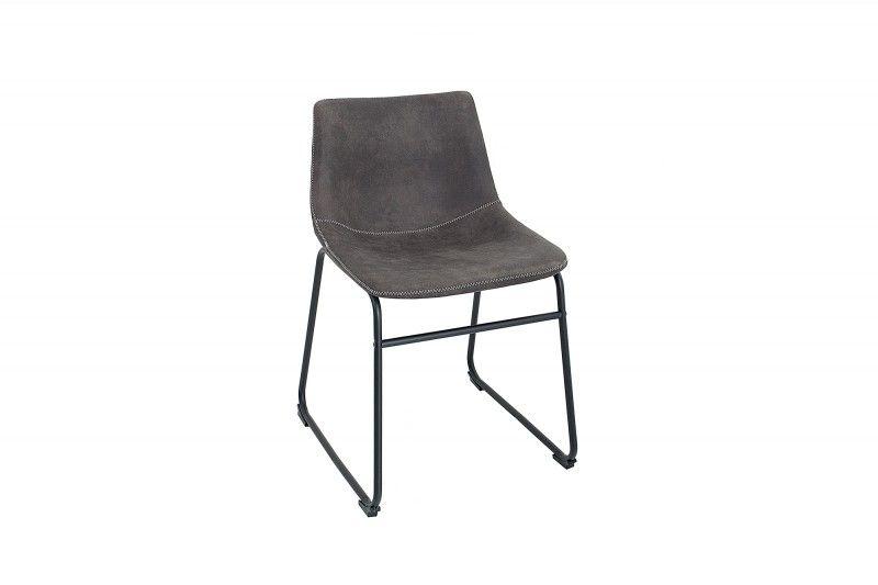 Interior Krzesło Django Szare Mikrofibra żelazo Z38109