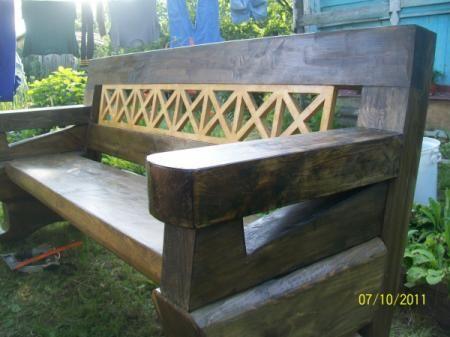 садовая скамья из массива сосны скамья сосна. столярное изделие
