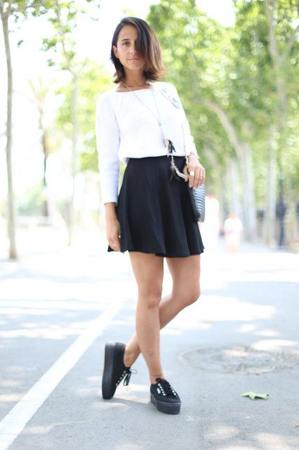 43a6f7f7a9a8a Outfits with black Superga shoes - Trendtation | shoes | Superga ...