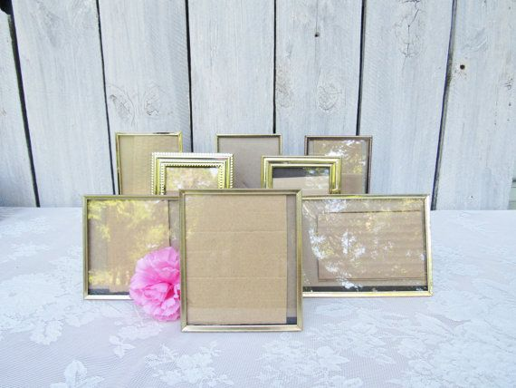 Wedding Table number picture frames, Gold metal frames, Silver metal ...
