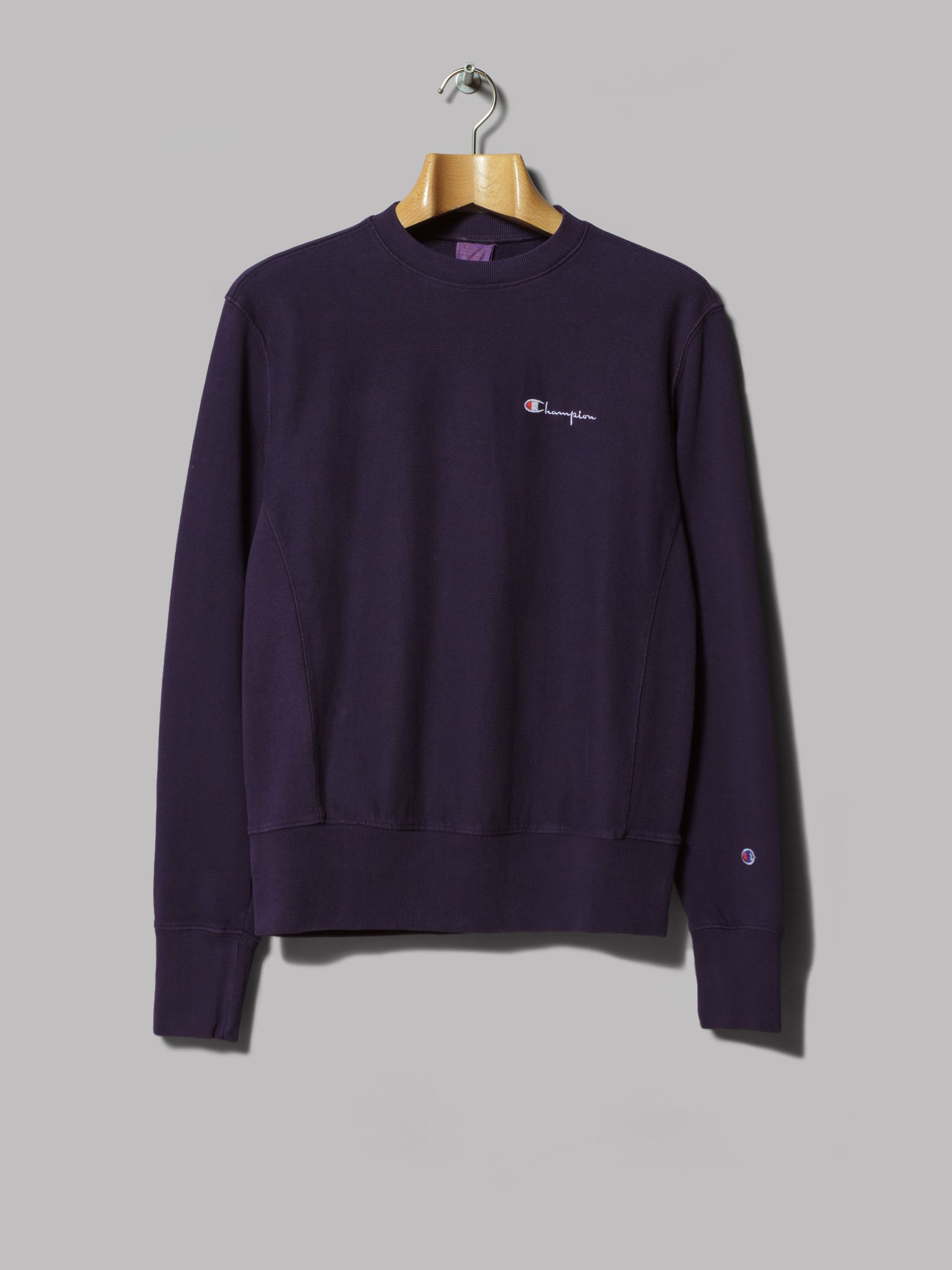 Champion Reverse Weave Crewneck Sweatshirt (Dark Purple)