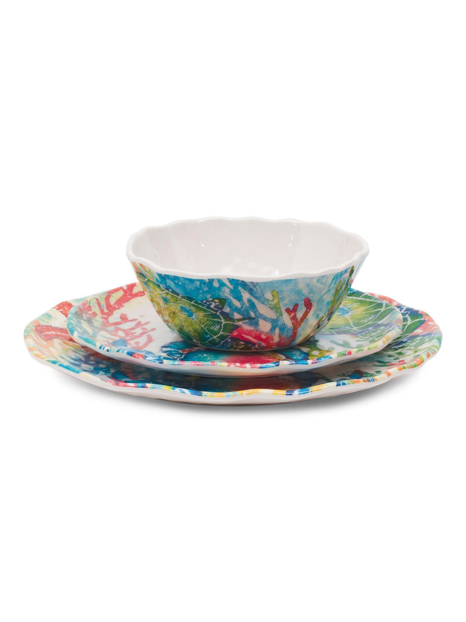 12pc Marine Life Outdoor Dinnerware Set | Products | Pinterest ...
