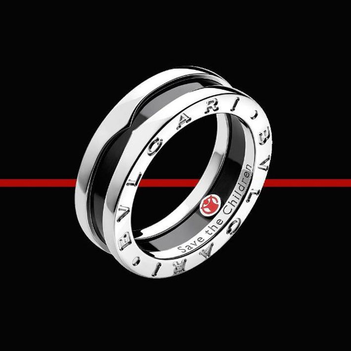 sito affidabile 91910 a7e3c Anello Bulgari per Save the Children in argento e ceramica ...