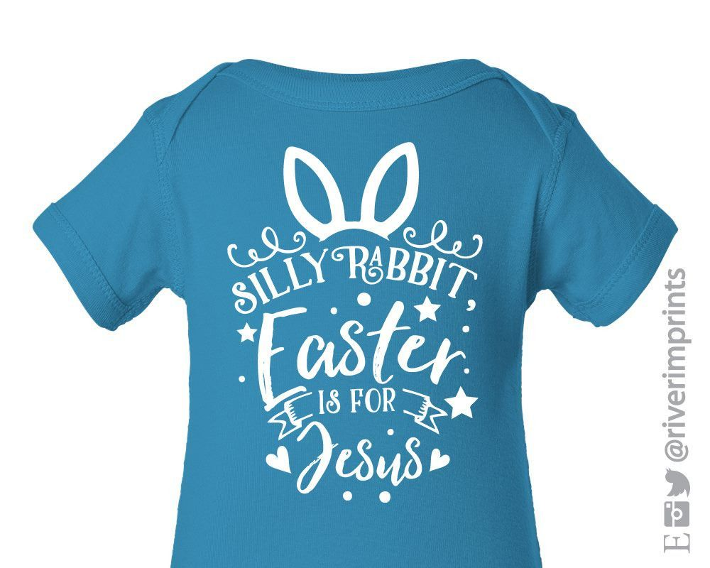 Baby silly rabbit easter is for jesus boy or girl easter bodysuit baby silly rabbit easter is for jesus boy or girl easter bodysuit one piece negle Gallery