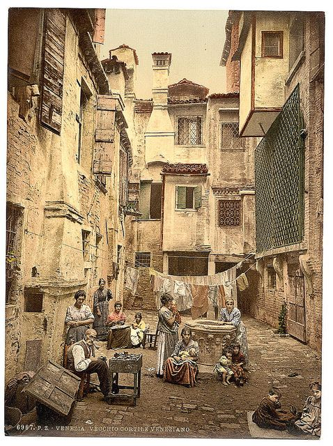 Photo of [Old Venetian courtyard, Venice, Italy] (LOC)