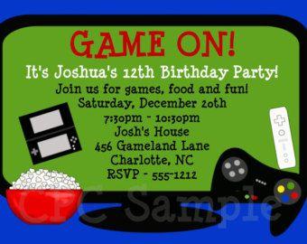 XBOX SLUMBER PARTY INVITE