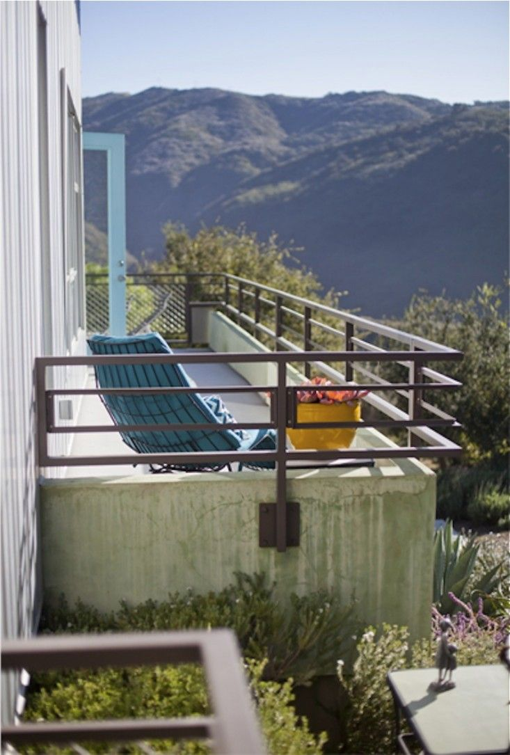 poured concrete terrace overlooking the canyon.Architect: Bruce Bolander