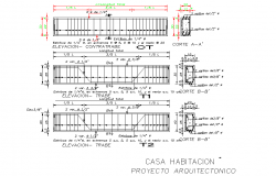 Beam and column section plan detail layout file   block