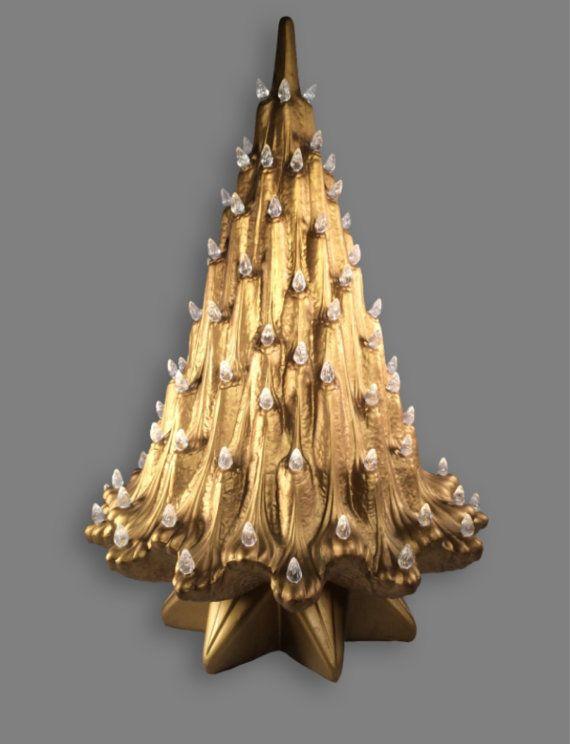 Vintage Atlantic Mold Ceramic Christmas Tree Rare Art Deco Mold Ceramic Christmas Trees Unusual Christmas Trees Christmas Favorites