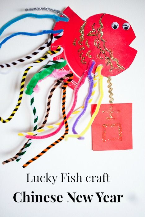 Lucky Fish Craft Chinese New Year Lunar New Year 2019 Pig