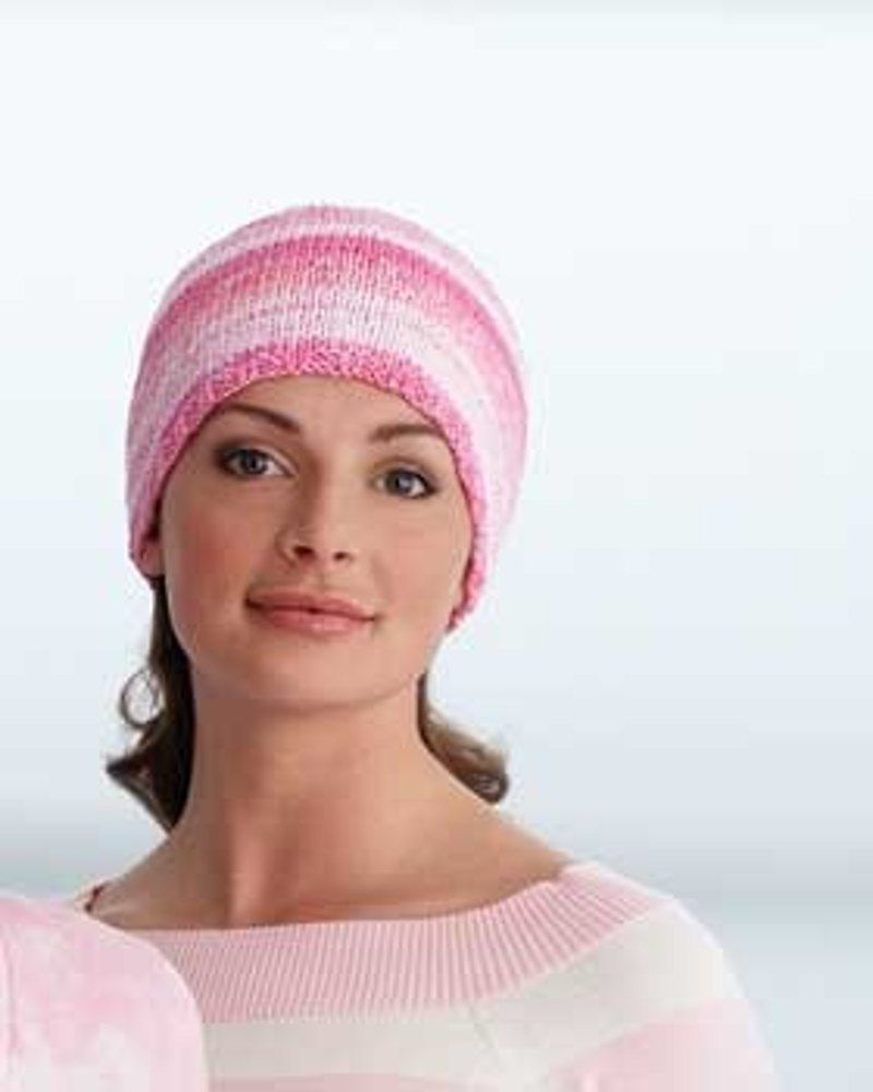 de922633a1f Chemo Cap FREE knitting pattern in Bernat Handicrafter Cotton Solids. Chemotherapy  cancer treatment hat knitting pattern. Get the downloadable PDF from ...