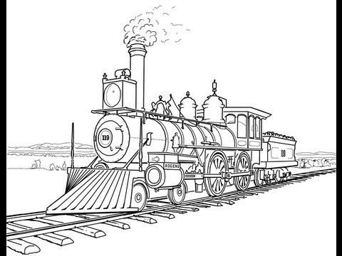 Pin By Mohamed Mahmoud On Pyrography Pinterest Train Coloring Pages Train Drawing Coloring Pages