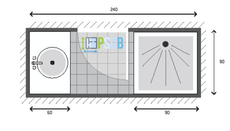 Exemple de plan de salle de bain de 2,2m2 | Plans pour petites ...