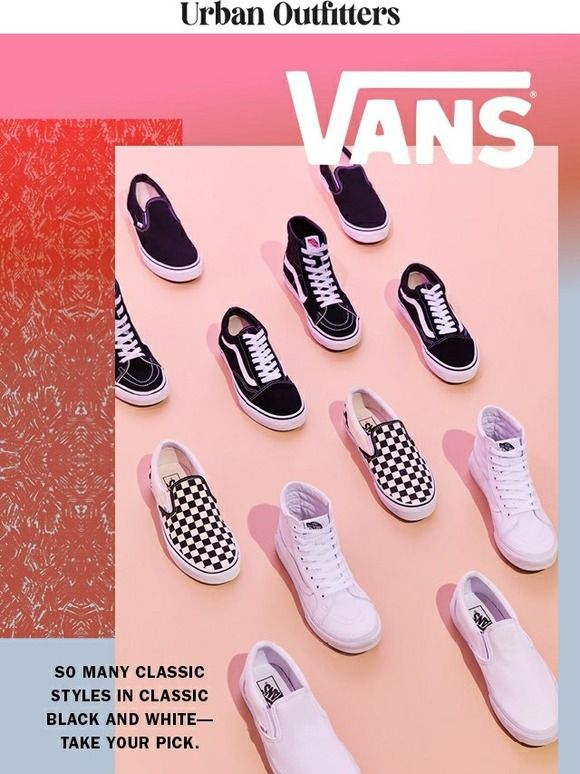 Introducir Ordinario Marco de referencia  B&W Vans FTW - Urban Outfitters | Digital marketing design, Urban  outfitters, Shoes fashion photography
