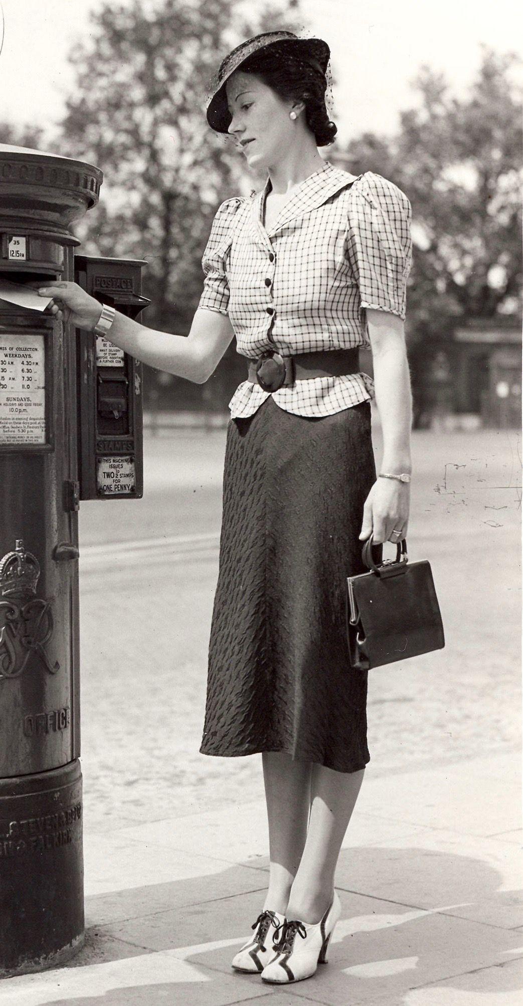 Mode 30 Noire Mode Jupes Vintage Année Robe Tailleur Crayon 1930s gqEdawa