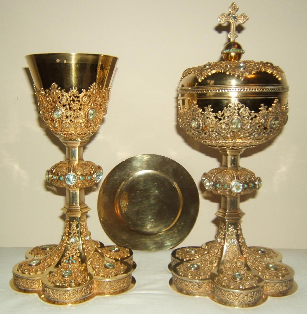 Antique gothic chalice and ciborium 19th century in solid for Direct jewelry falls church va