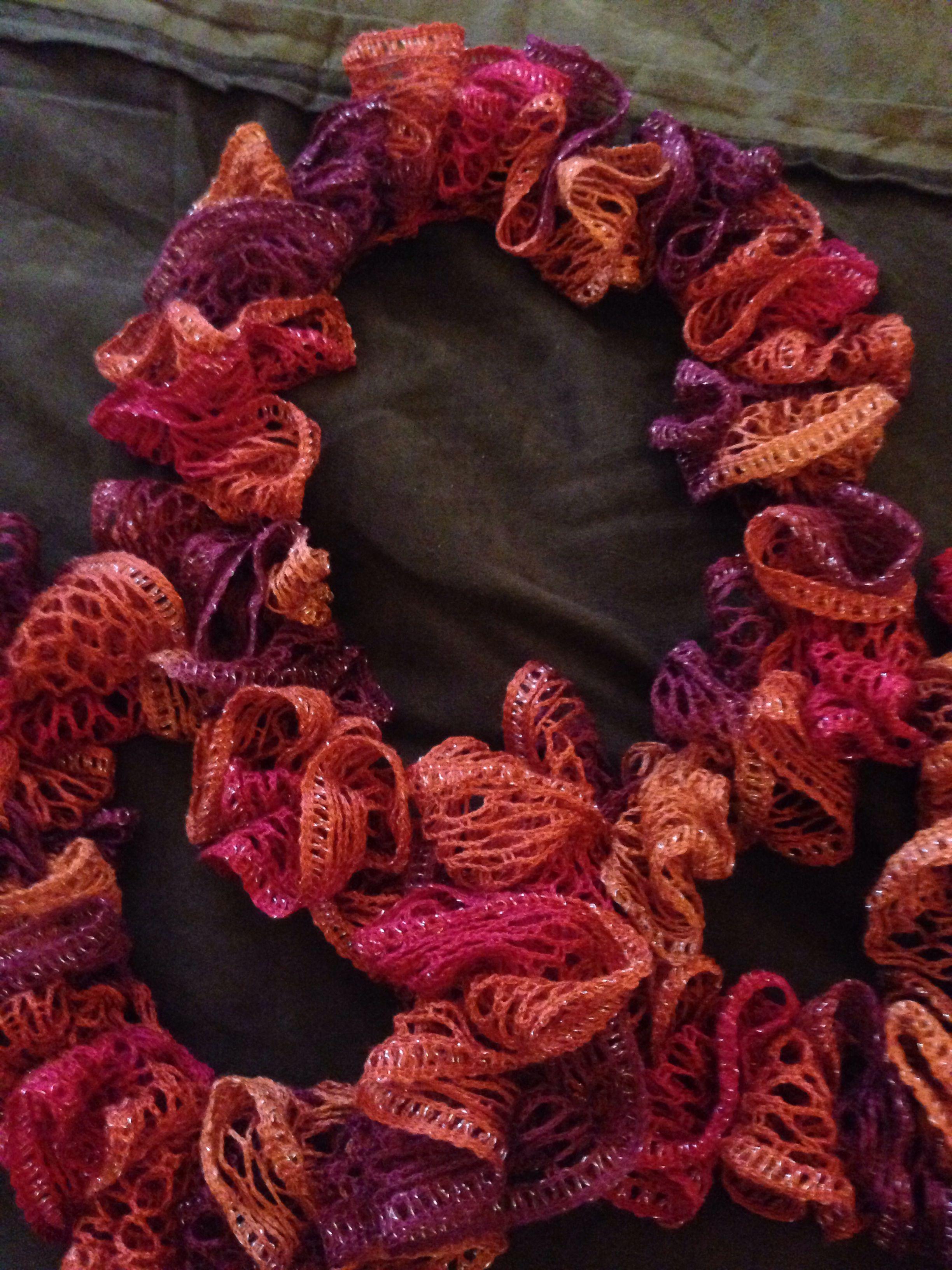 Crochet Sashay Scarf Color: Salsa | Scarfs | Pinterest