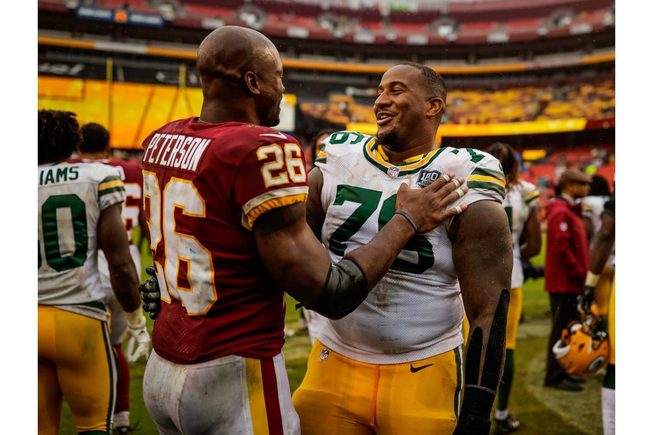size 40 cf54a 2db65 Adrian Peterson and Mike Daniels 9/23/2018 | Green Bay ...