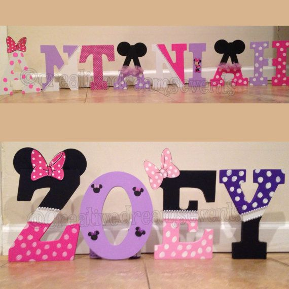 Minnie Mouse Wooden Letters By Creativedreamsevents On Etsy Minnie Minnie Mouse Baby Shower Minnie Mouse Party
