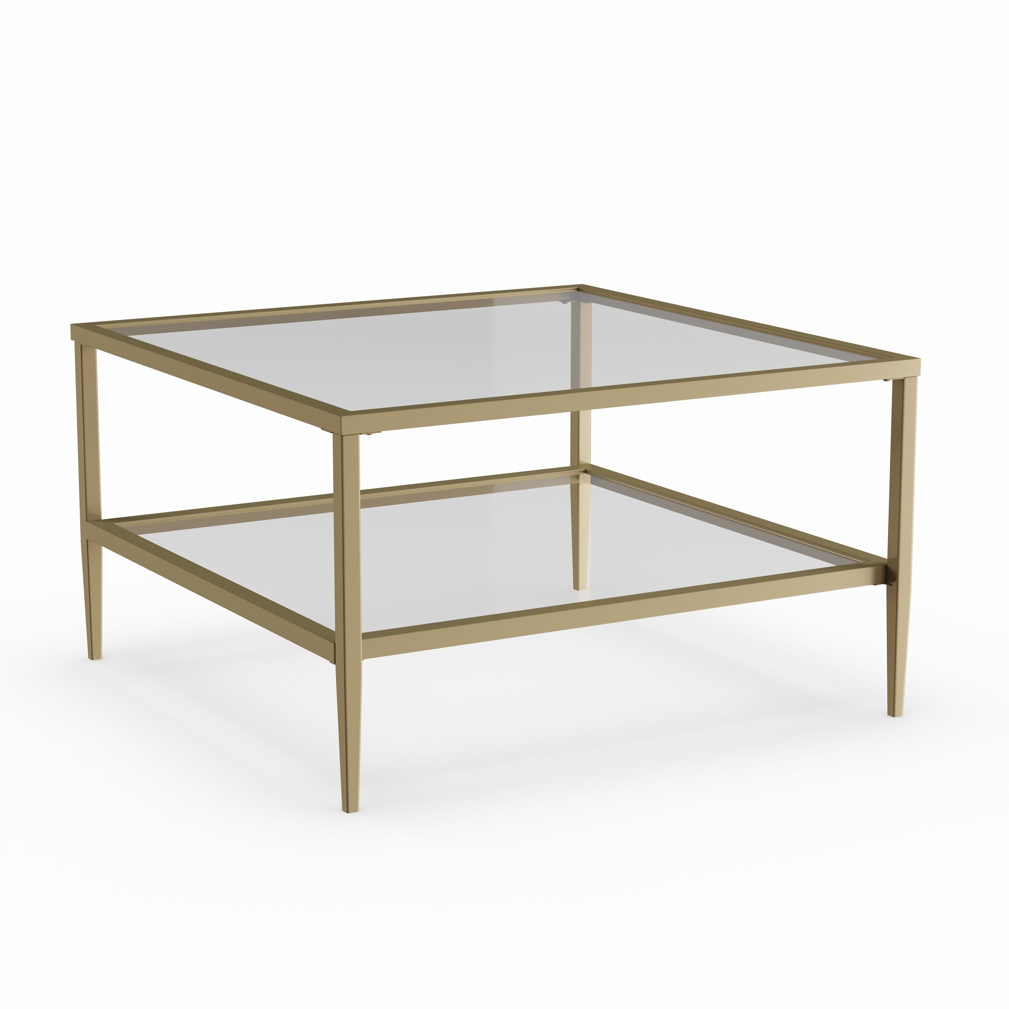 Judd Square Glass Coffee Table With Shelf Klarity Glass Furniture Square Glass Coffee Table Glass Coffee Table Modern Glass Coffee Table [ 1200 x 1200 Pixel ]