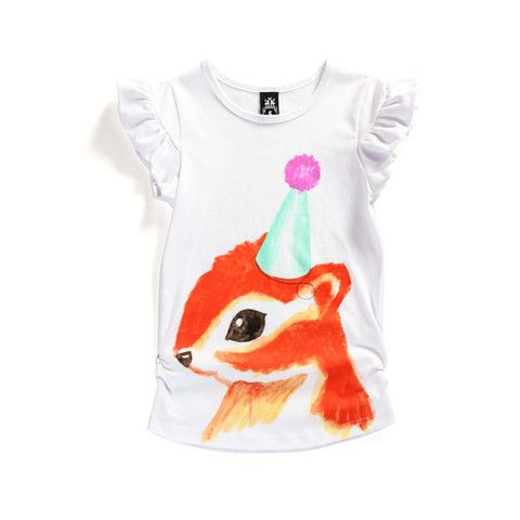 Wild and Mini - Littlehorn Party Squirrel Tee