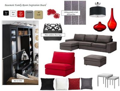 Family Room Inspiration board from A Sister's Home
