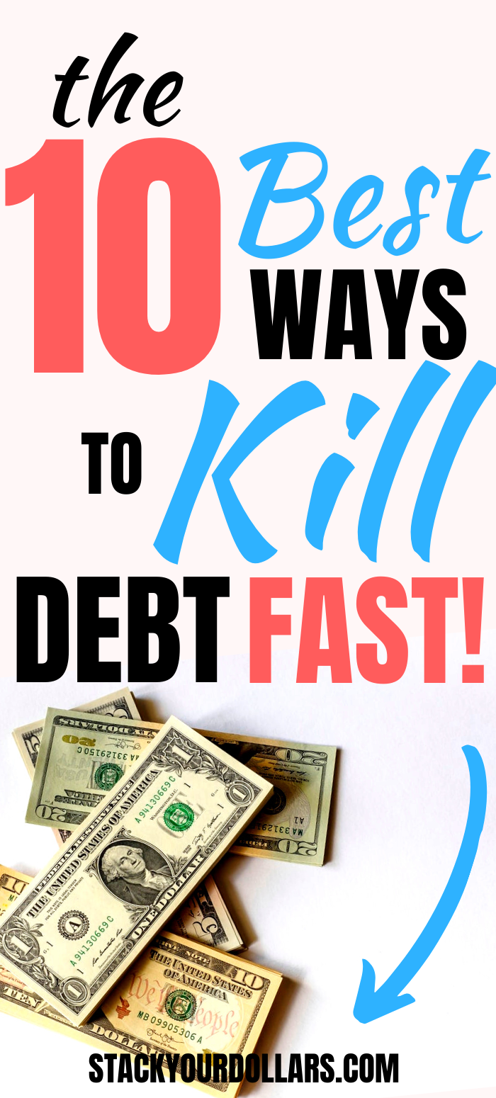 Here's how to pay off debt quickly, because I know you don't want to be shackled to your debt forever. These debt payoff tips will help you make the right decisions and allocate your money the best way to get rid of your debt while saving as much money as possible. Learn all the avenues and options you need to explore while coming up with your debt payoff strategy. These tips will really help you achieve your goal of being debt free! #debtpayoff #debtfree #frugal #stackyourdollars