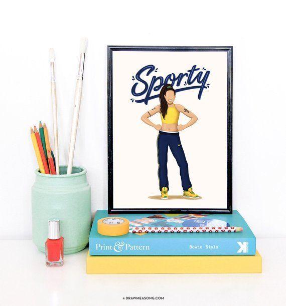 Sporty Spice Music Poster, 90s Spice Girl Print, Mel C, Girlboss Gift For Her, Girl Power Fun Pop Art Wall Art Feminism Art Print ,  #90s #Art #Feminism #Fun #Gift #Girl #girlpowerbidday #Girlboss #Mel #Music #Pop #poster #Power #Print #Spice #Sporty #Wall