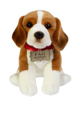 Fao Schwarz 10 Inch Plush Beagle Toy Brownwhite Beagle Plush