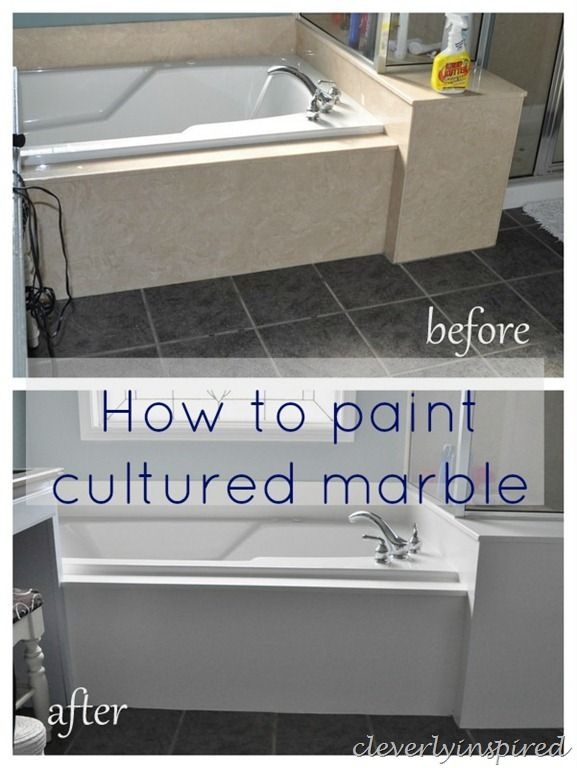 Amazing How To Paint Cultured Marble Tub Surround @cleverlyinspired