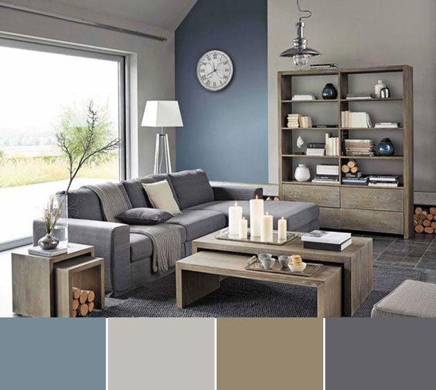 40 combinaciones de colores para pintar un salón | sofa | Pinterest ...