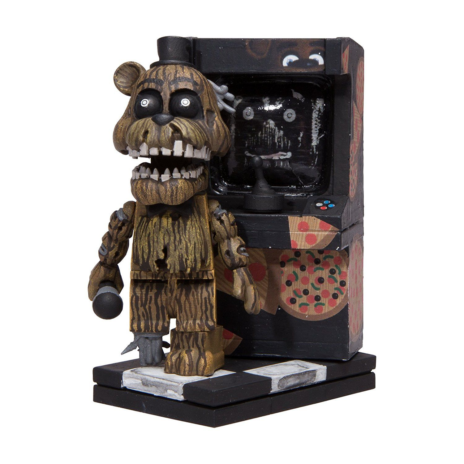 Amazon Com Mcfarlane Toys Five Nights At Freddy S Micro Arcade Cabinet Construction Set Toys Games Spielzeug Mach Dein Ding