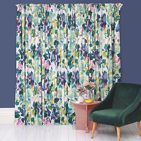 Buy Bluebellgray Palette Lined Pencil Pleat Curtains Online At Johnlewis