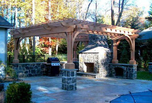 Deck Patio · Post And Bracket ...