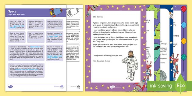 Space Topic Hook Wow Ideas and Resource Pack - EYFS, Early
